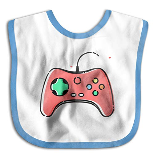 Price comparison product image Gamepad Icon Cotton Baby Bibs Infant Toddler Soft Drool Bib for Feeding Teething