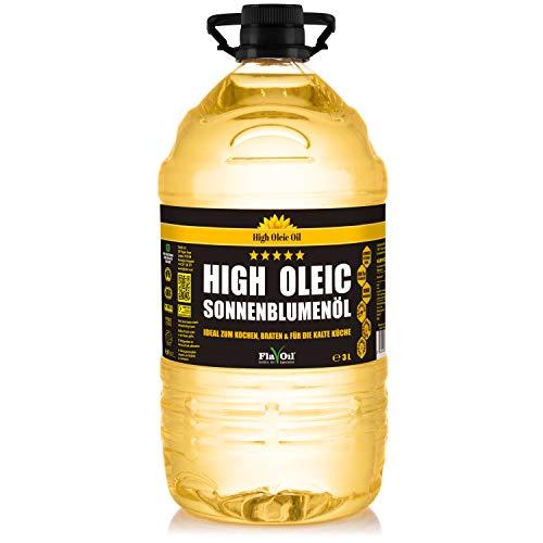 HIGH OLEIC Sonnenblumenöl von FlavOil, 3 Liter- ein gesundes Pflanzenöl und Bratöl zum Kochen und...