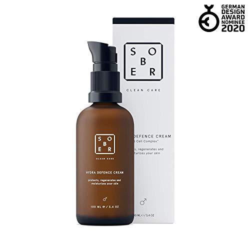 sober® | Hydra Defence Cream | Gesichtscreme für Männer | vitalisierende Feuchtigkeitscreme mit Hyaluron und Aminosäuren