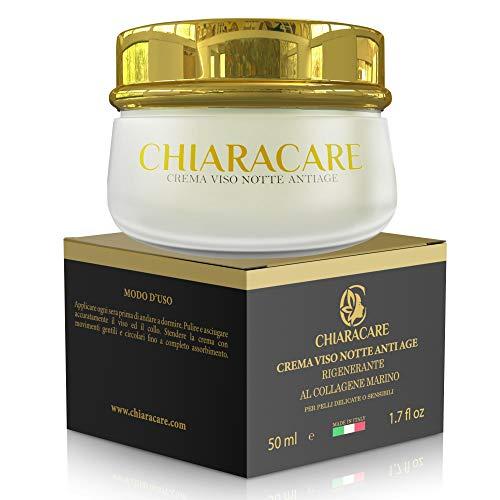 CHIARACARE Crema Viso Idratante Notte Al Collagene Marino Donna Antirughe - 50 ml