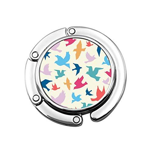 Rama Hermoso Jardín Pájaro Monedero Organizador Percha Monedero Percha de Escritorio Diseños únicos Sección Plegable Gancho de Almacenamiento Percha para Mesa