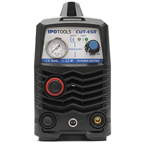 IPOTOOLS Plasmaschneider CUT-45R – Plasmaschneidgerät 45A bis 12 mm Schneidleistung Inverter Schweißgerät Plasma Cutter mit IGBT/HF Zündung/Blau / 230V - 3