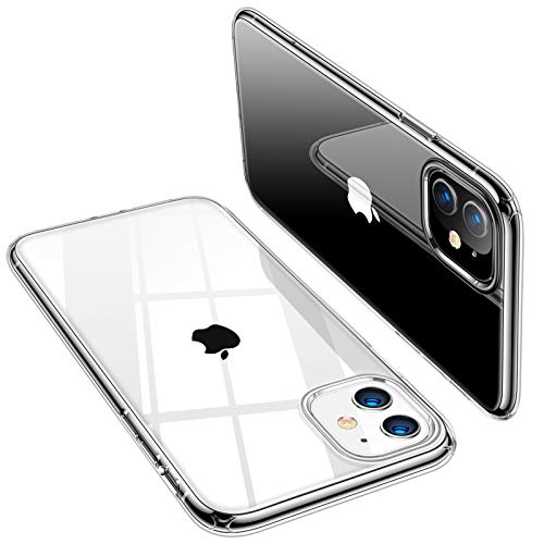 TORRAS Crystal Clear Compatible for iPhone 11 Case 6.1 inch, Ultra Thin Slim Fit Shockproof Flexible...
