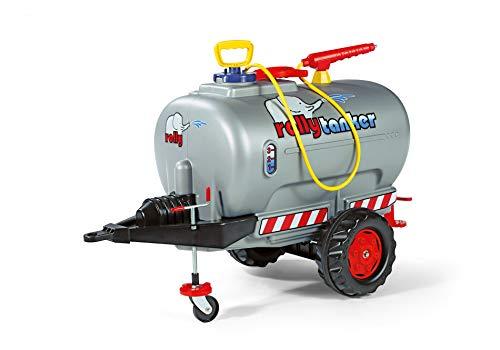 Rolly Toys rollyTanker Fass-Anhänger mit Pumpe und Spritze (für Kinder von 3 - 10 Jahre, mit Stützrad, max. Befüllung 30 Liter) 122776