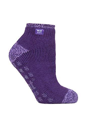 Heat Holders - Calcetines de tobillo antideslizantes para mujer, 2,3 tog, corte bajo, térmicos, 4 colores, talla 4–8 UK Morado Morado ( 37-42
