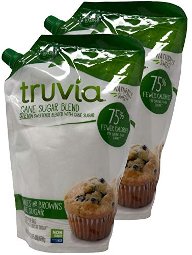 Truvia Sweetener Baking Blend, Now Called 'Cane Sugar Blend' 2 Pack, 1.5 LBS each