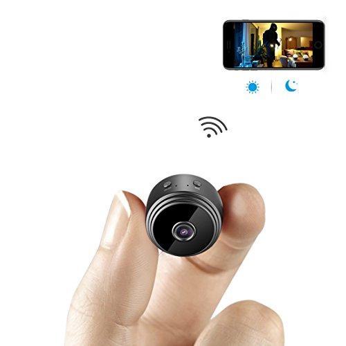 aobo 超小型WiFi隠しカメラ 1080P高画質小型スパイカメラ 150°広角リアルタイム遠隔監視 ワイヤレス携帯型防犯監視カメラ 動体検知暗視機能長時間録画暗視盗撮カメラ iPhone/Android/iPad/PC対応 日本語取扱