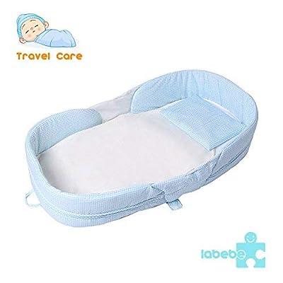 Labebe - Cuna de viaje de bebé con patrón de erizo (pequeño)