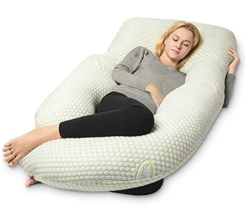 QUEEN ROSE Cooling Air Flow Pregnancy Pillow,...