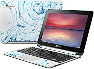 Azul Marble Protector Skin Sticker Compatible with Asus Flip Chromebook - Ultra Thin Protective Vinyl Decal Wrap Cover