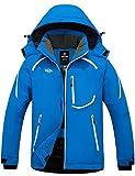 Wantdo Men's Waterproof Ski Jacket Windproof Winter Warm Snow Coat Blue L