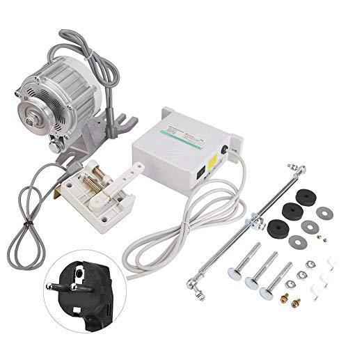 Motor de máquina de coser, motor de máquina de coser 750W Servo motor silencioso sin escobillas para máquina de coser 750W 7N.m para industrial, hogar, cabeza alta, doble aguja(EU)