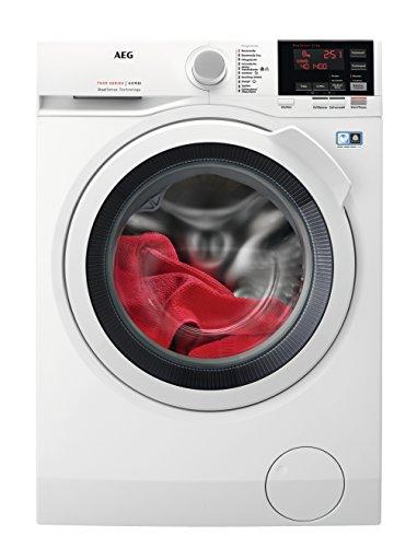 AEG L7WB65680 Waschtrockner Frontlader / Waschmaschine (8,0 kg) mit Trockner (4,0 kg) / 1600UpM / sparsamer Waschautomat und Wäschetrockner mit Material- und Mengenautomatik / A (1070 kWh/Jahr)