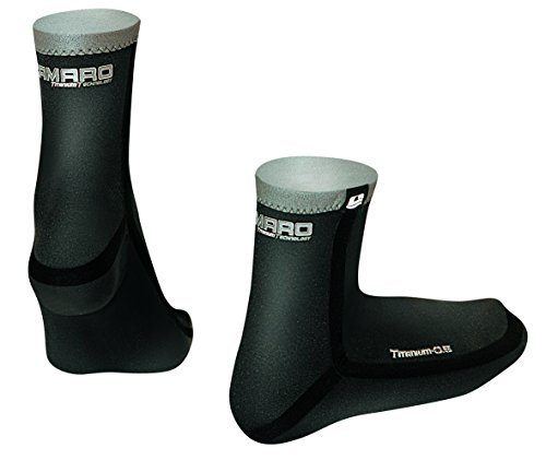 Camaro Neoprensocken Titanium Seamless Socks, Schwarz, 41/42