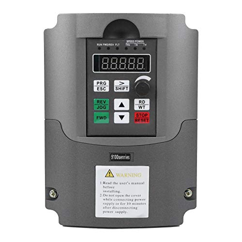 Convertidor de frecuencia de inversor VFD 5.5KW, 7HP 13A Monofásico AC220V a trifásico AC380V Variador de frecuencia, para controlador de velocidad del motor