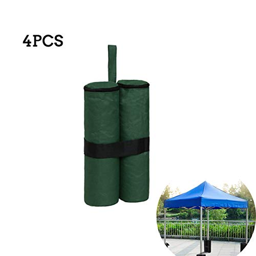 oofay 4PCS Pavilion Leg Weight, Weight of Pavilion Leg, Windproof and Waterproof, with Velcro, Can Be Used for Pavilion, Tent, Sun Shade (Green)