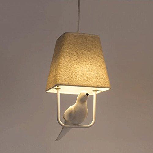 WYL Bird Restaurant Chandeliers Personalidad creativa Sala de estar Bar Diseñador Lámparas simples y modernas Arte de tela Arañas Restaurante Araña Sala de estar Comedor Chandelier Pasillos Creativo G