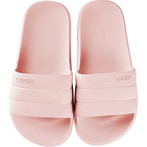 GURGER Zapatos de Playa Piscina Ducha Baño Chanclas Sandalias de Punta Descubierta Pantuflas Casa Verano Rosa 38 39
