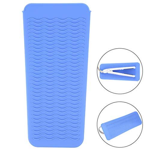 Bolsa de viaje de silicona resistente mat al calor para rizadores, rizador de cabello, rizador de peluquería, planchas planas, alisador de cabello