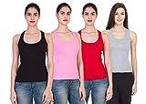 Vansh fashion Women's Cotton Tank Top/Camisole (Pack of Combo)