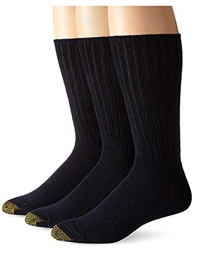 Gold Toe Herren Baumwollflauschige Socken 3er-Pack -  blau -  2 Pack (6 Paar)