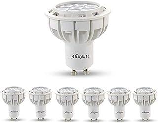 Bombillas LED GU10, 7 W, 550 lm, equivalente a 50 60 W halógenas, color blanco neutro, 4000 K, bombillas LED foco, 38 ° anchas, bombillas GU10 LED, casquillo GU10, juego de 6