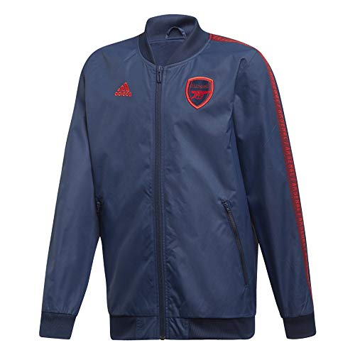 adidas Men's Arsenal FC Anthem Jacket 2019-20 (Large) Collegiate Navy/Scarlet
