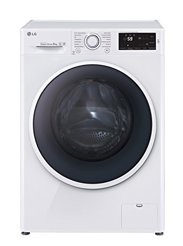 LG Electronics F 14U2 TDN0H Waschmaschine FL / A+++ / 117 kWh/Jahr / 1400 UpM / 8 kg / 8900 L/Jahr / 14 vorprogrammierte Programme / Smart Diagnosis
