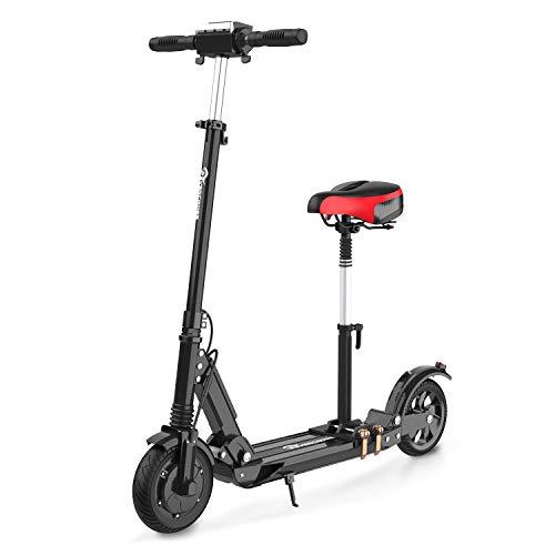 Scooter eléctrico, Scooter eléctrico para Adultos, 8 Pulgadas, 350 W, Motor, Velocidad máxima, 30 km / h, con Pantalla LCD, batería de Iones de Litio de 7,5 A, Scooter eléctrico Ultraligero Plegable