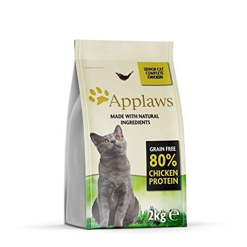 Applaws Comida seca para gatos, pollo/senior, 400 g