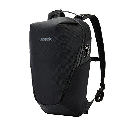 Pacsafe Venturesafe X18 Backpack, Anti-Diebstahl Rucksack, Diebstahlschutz Wanderrucksack 18 Liter - Schwarz/Black