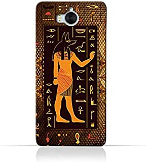 Huawei Y6 2017 TPU Silicone Case with Egyptian Hieroglyphs Pattern