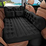 QUEES Car Air Mattress Inflatable Bed for Car Back Seat, Thickened Car Mattress with Electric Air Pump for Camping, Travel, Sleeping fits SUV, Truck, Sedan, Minivan