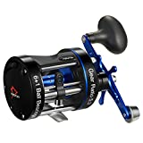 Piscifun Chaos XS Baitcasting Reel Round Reel Reinforced Metal Body Conventional Reels for Catfish, Musky, Bass, Pike, Saltwater Inshore Surf Fishing Reels (50 Left Handed)