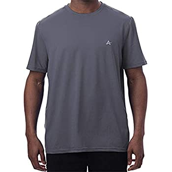 Arctic Cool Men's Crew Neck Instant Cooling Moisture Wicking Performance UPF 50+ Short Sleeve Shirt | Lightweight Breathable Tshirt for Running Workout Exercise Fishing Storm Grey XXXL