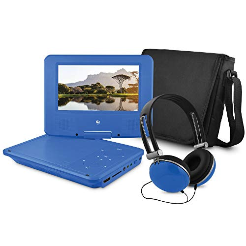 Ematic 7' Portable DVD Player Bundle with HDMI Input and ROKU Connectivity - Blue