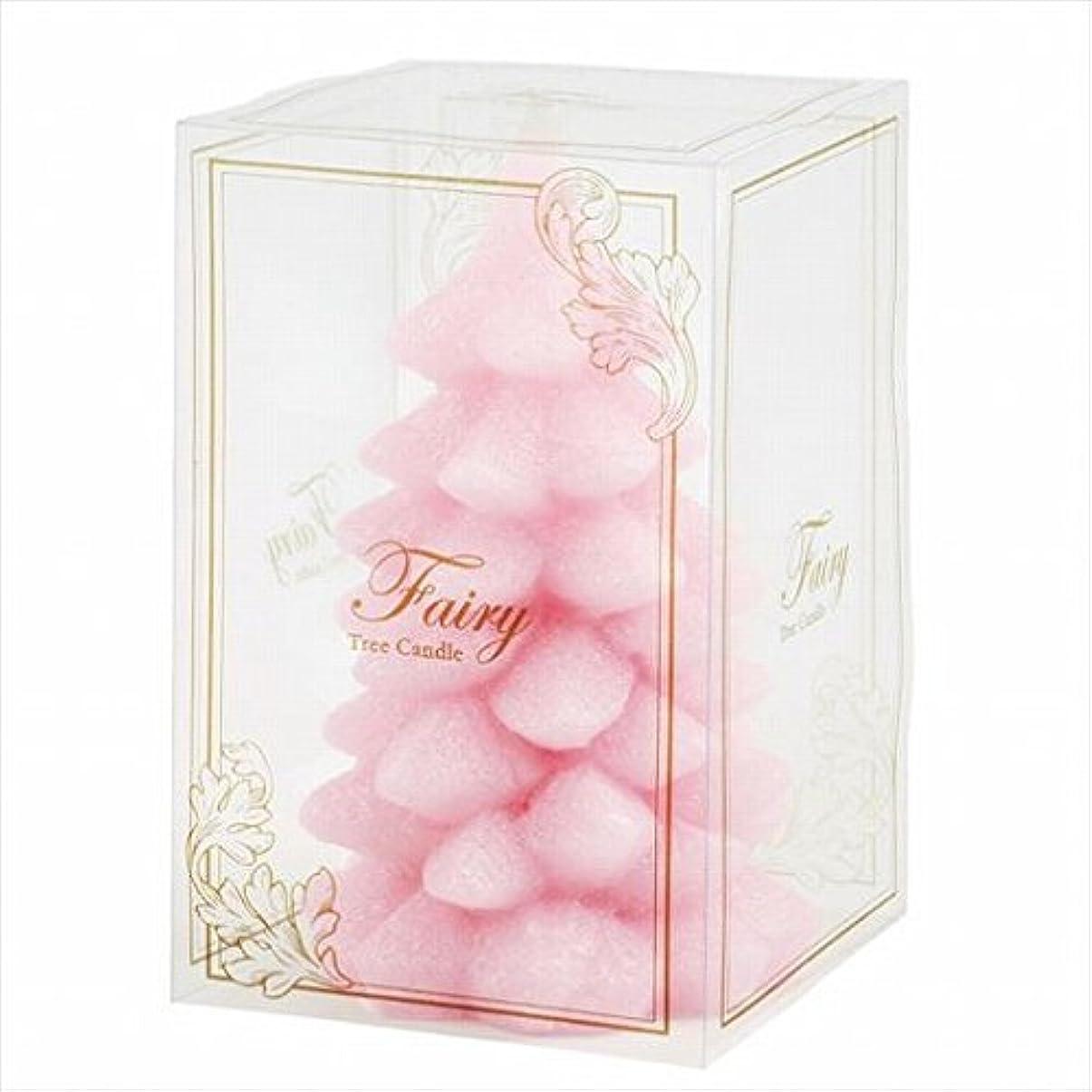 コードレス後方に赤カメヤマキャンドル(kameyama candle) フェアリーツリーL 「 ピンク 」