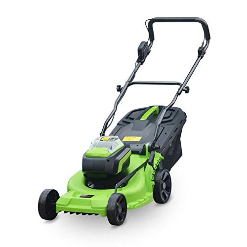 Electric Rotary Lawn Mower 37cm Cutting Width, 40L Grass Box, Close Edge Cutting, Rear Roller, Central Height Adjust, Space Saving Storage Features (Size : C)