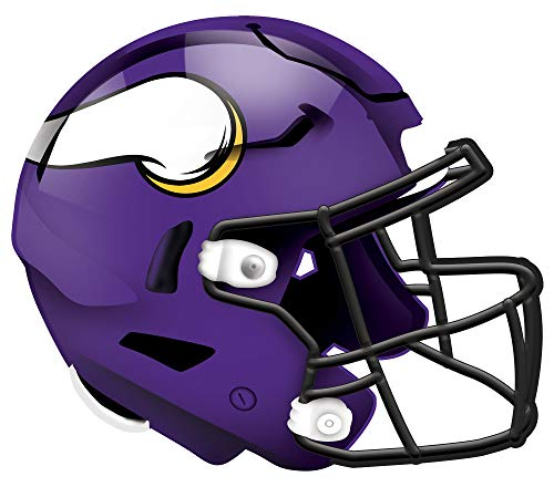 Fan Creations NFL Minnesota Vikings Unisex Minnesota Vikings Authentic Helmet, Team Color, 12 inch
