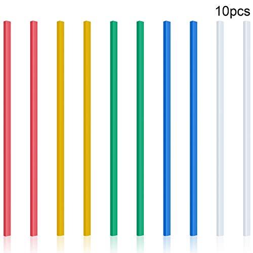 10 Piezas Lomeras Deslizantes de Encuadernación Barras de Carpeta A4 para Escuela y Oficina, 12 Pulgadas, 40 Hojas Capacidad(5 colores)
