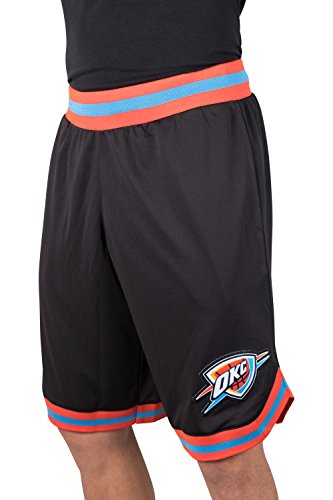 Ultra Game NBA Oklahoma City Thunder Mens Woven Basketball Shorts, Team Color, XX-Large