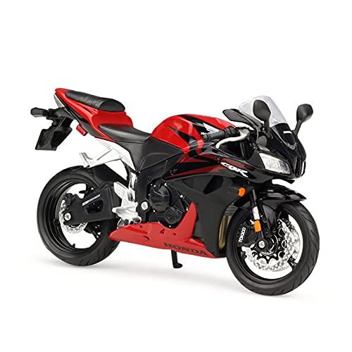 JUDRR CBR600RR Motocicleta 1:12 Modelo de Motocicleta Juguetes, Modelo de decoración de Torta de aleación, Mini colección de niños Regalos,Rojo