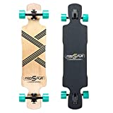 FREISPUR Longboard Cruiser 39 Zoll, mit ABEC-9 Kugellagern, Drop-Through Freerider