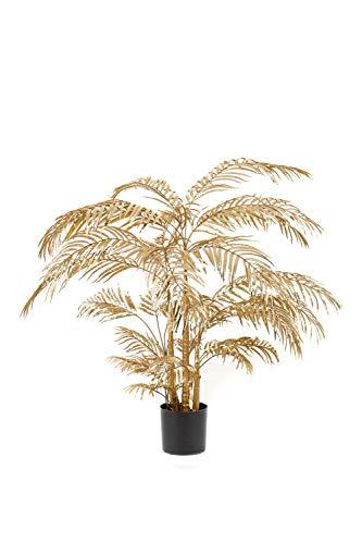 artplants.de Palmera de plástico Areca BARUNDIA, Oro, 145cm - Areca Artificial - Palmera Decorativa