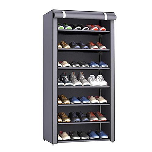 Dewdrop - Armario zapatero para colocar zapatos o sofás de siete combinaciones, zapatero de almacenamiento, resistente al polvo, zapatero escolar, dormitorio simple, organizador