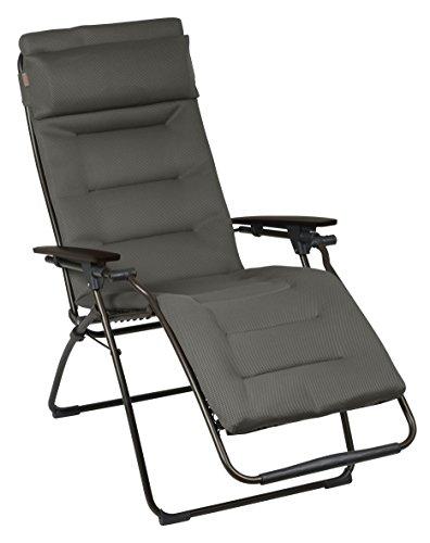 Lafuma Relax-Liegestuhl, Klappbar, Stufenlose Verstellung, Stahlkonstruktion, Air Comfort, Futura, Taupe (braun), XL