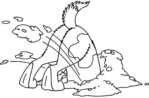 RS00011232 Azeeda A7 Digging Dog Unmounted Rubber Stamp