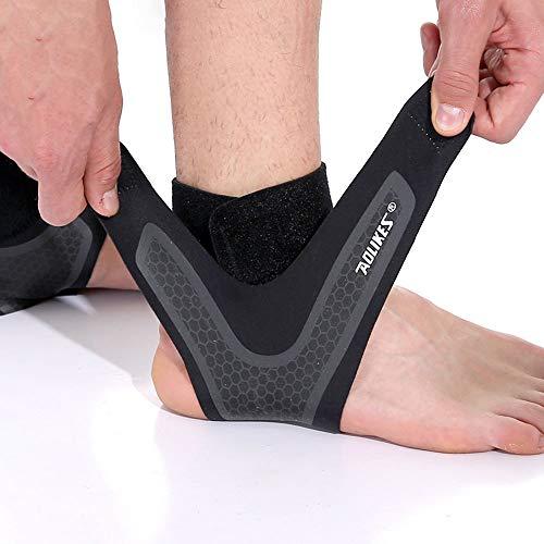 SPOTBRACE Ankle Support for Men and Women - Neoprene Breathable Adjustable Ankle Brace,Elastic Sprain Foot Sleeve for Plantar Fasciitis, Running, Basketball-1 Pair(L)