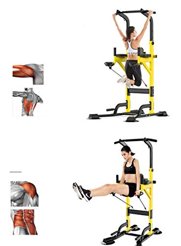 Product Image 4: Fitness equipment Pull-up Bars Free Standing Stand Dip Station Power Tower Pull-up Bar Strength Training for Home Gym 990 Weight Capacity (Size : A-Black)