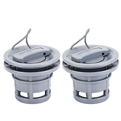 Boat Air Valve 2Pcs PVC Air Gas Valve Cap Replacement for Inflatable Boat Dinghy Kayak Canoe